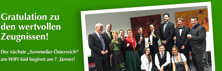 WIFI-Lehrgang Sommelier Österreich